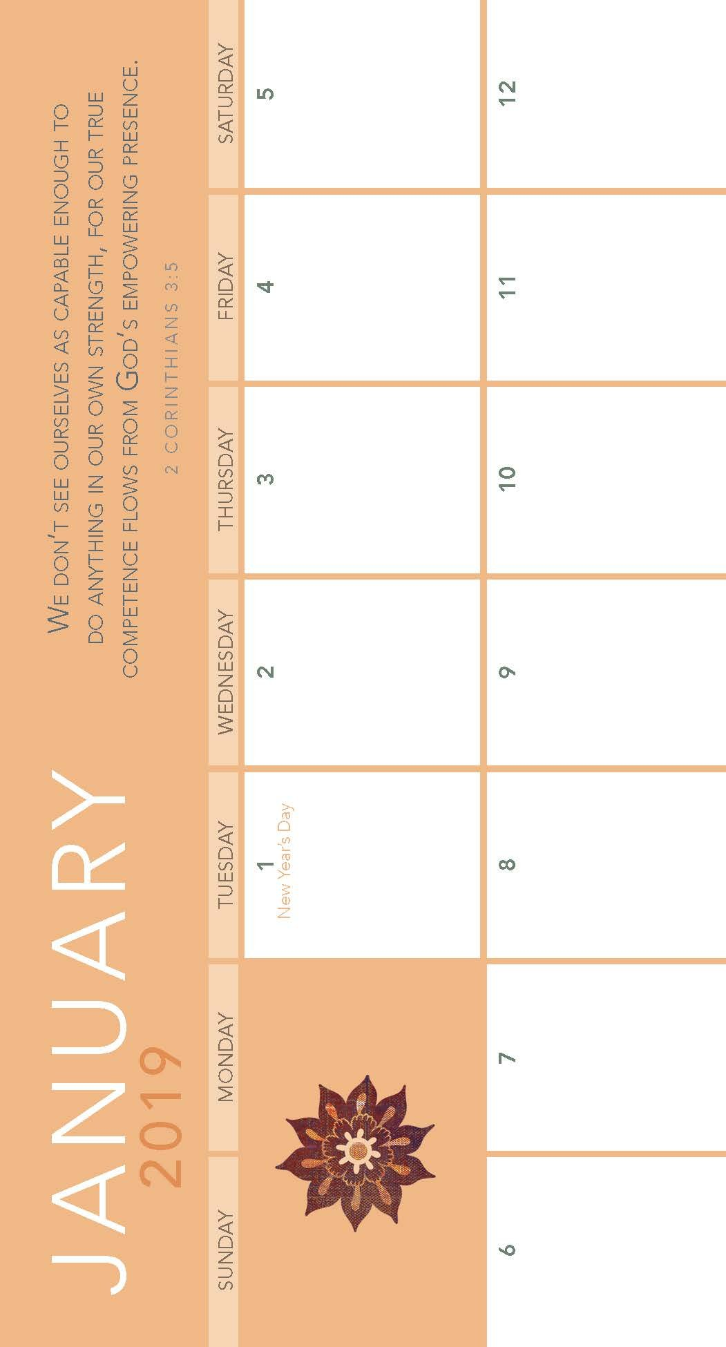2 Year Pocket Calendar 2019 And 2020 With Amazing Grace Planner