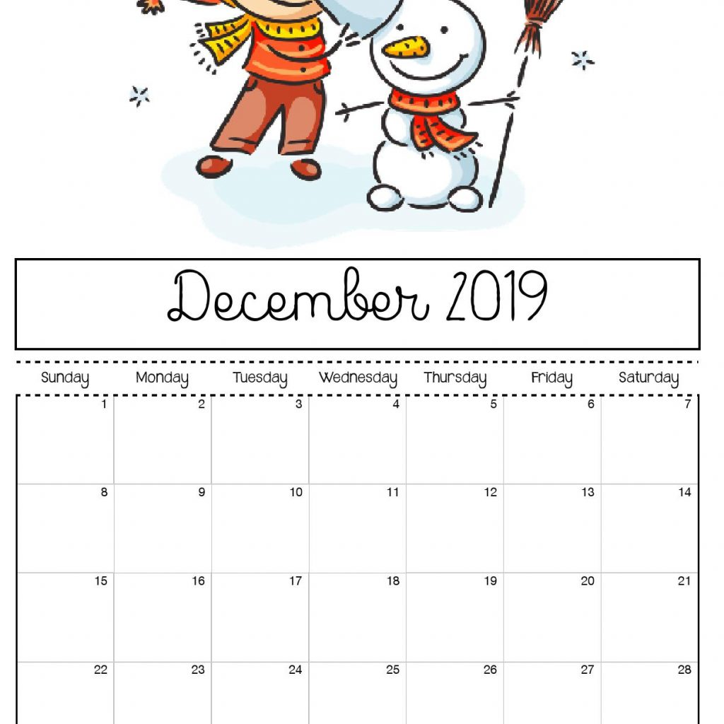 2019 Calendar Coloring Pages With Free Printable For Kids
