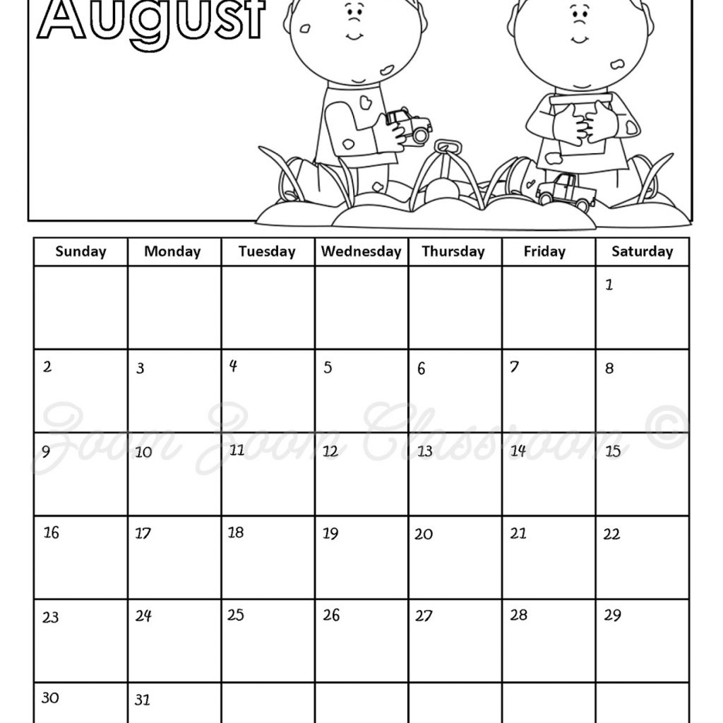 2019 Calendar Coloring Pages With Free Printable Sheets