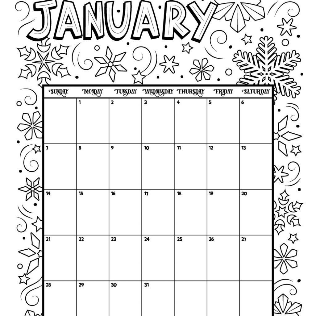 2019 Calendar Coloring Pages With Happy New Year Hd Printable Photos Images