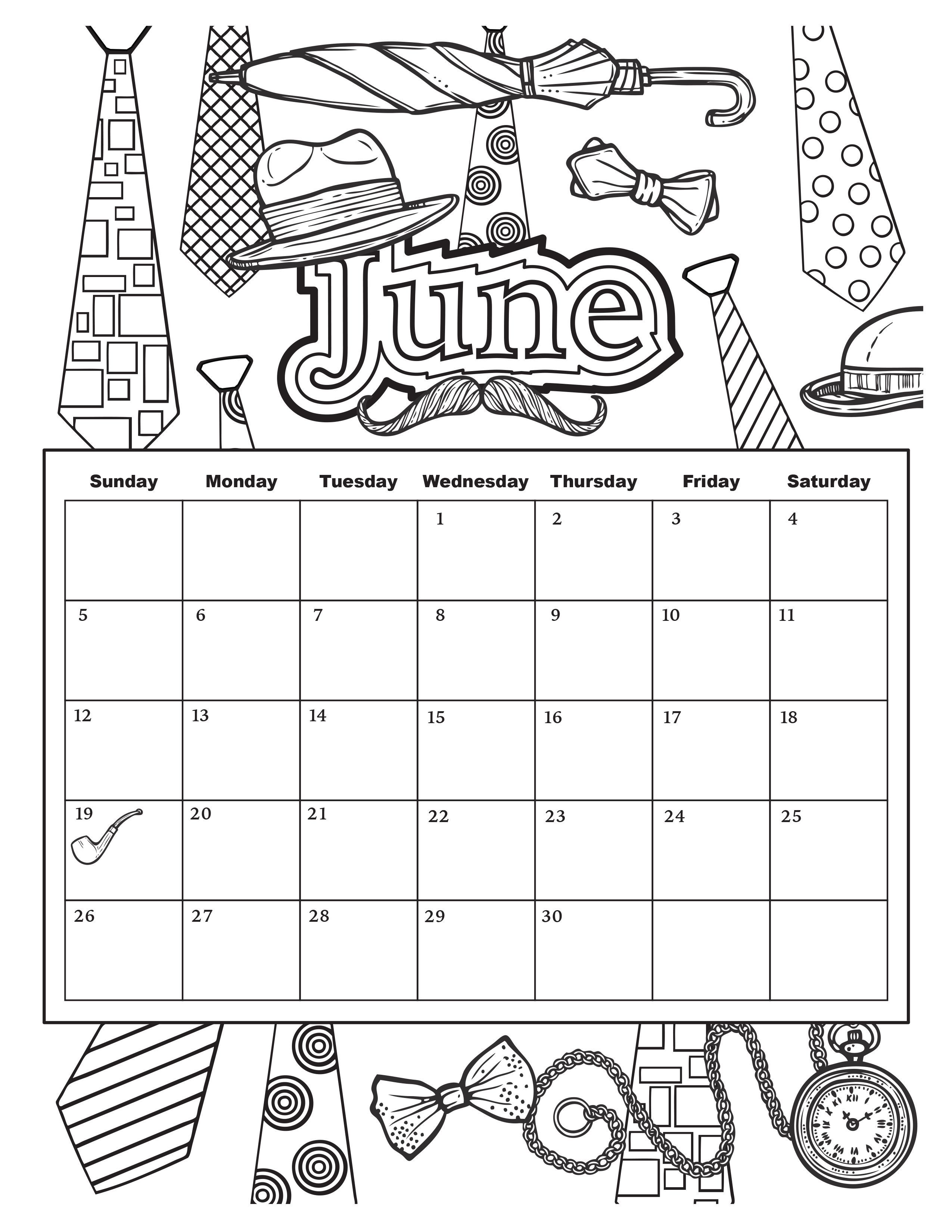 2019 Calendar Coloring Pages With October Adults Template Etknlik