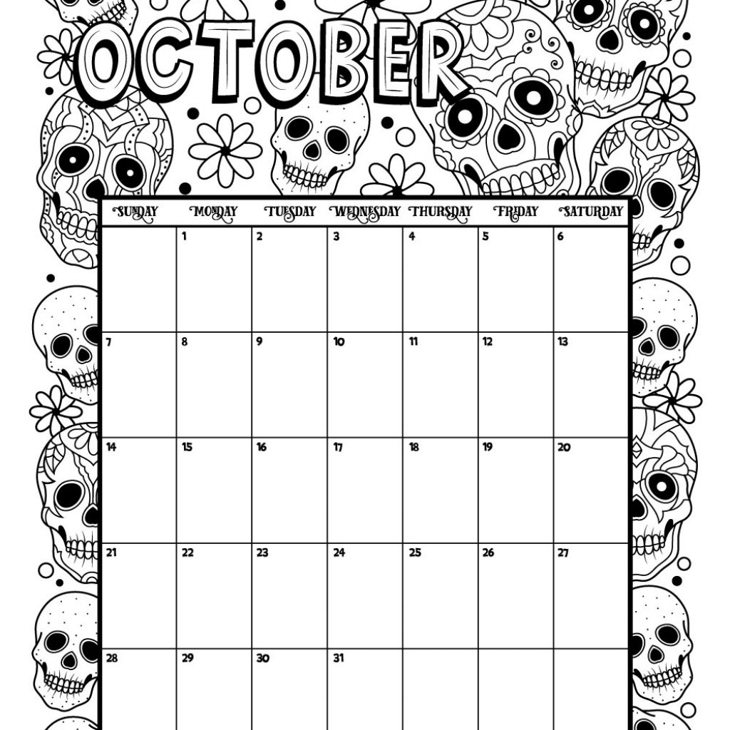 2019 Calendar Coloring Pages With Printable For And 2018 Woo Jr Kids