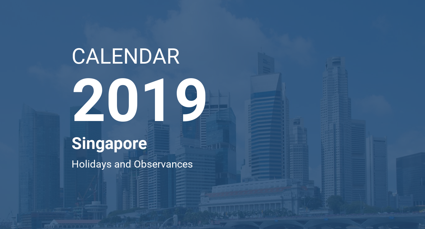 2019 Chinese New Year Calendar Singapore With