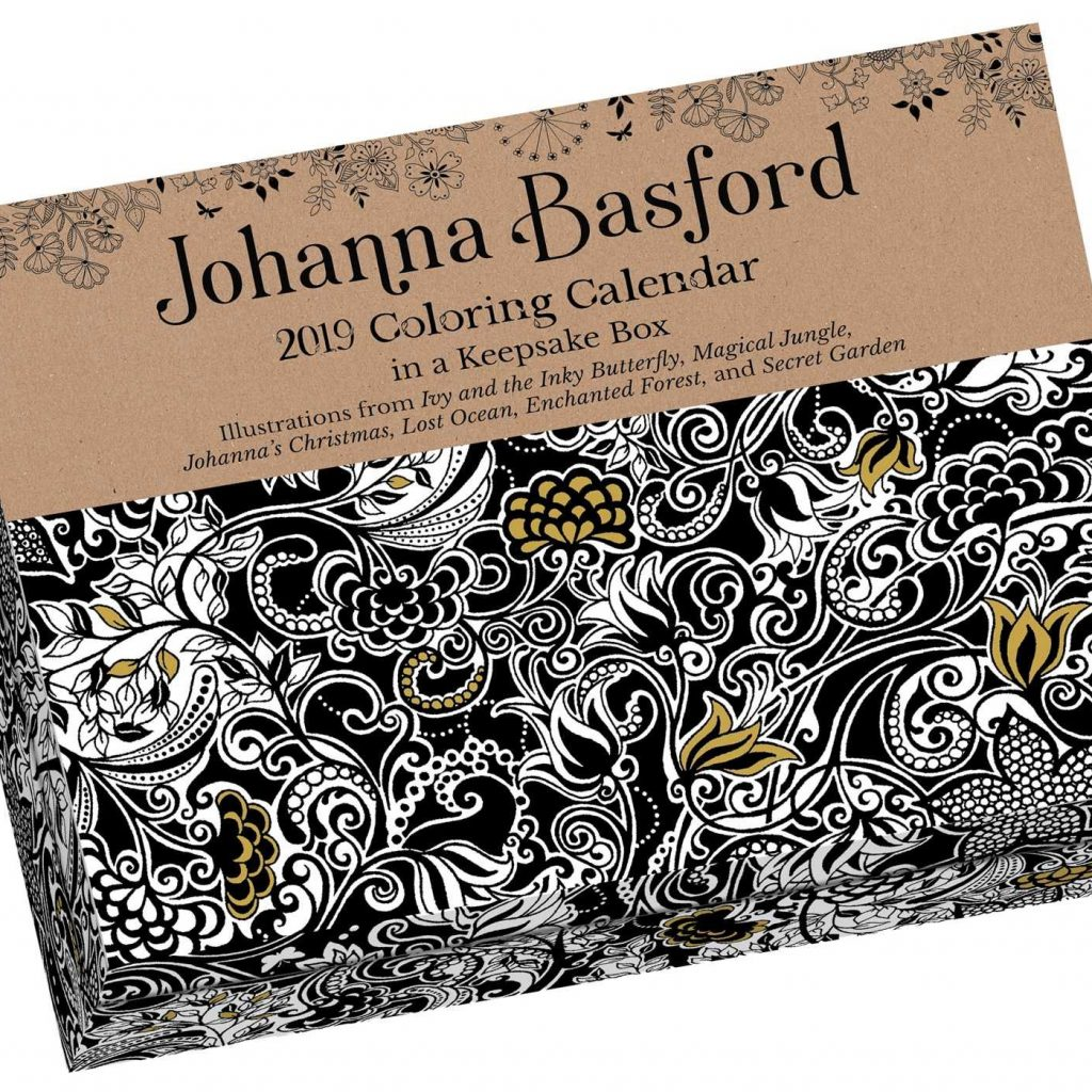 2019 Coloring Calendar With Johanna Basford Amazon Co Uk