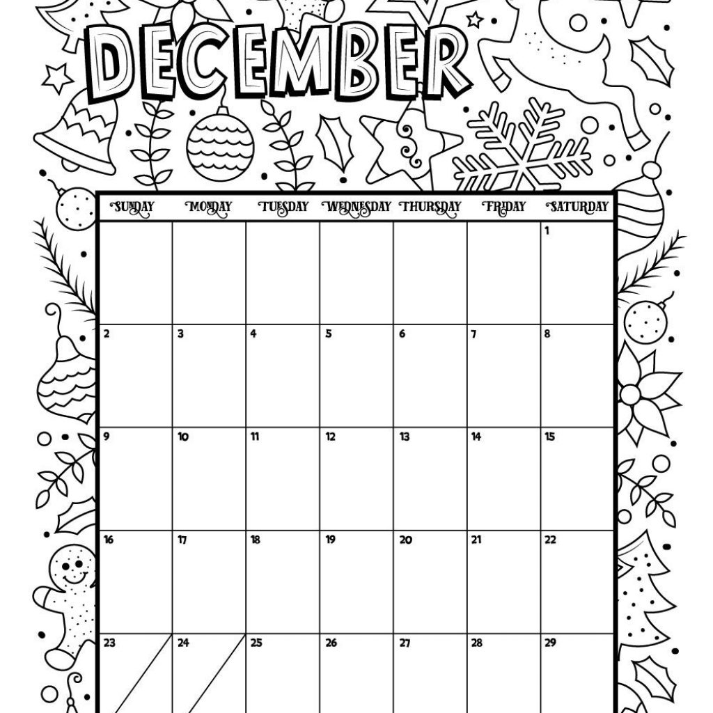 2019 Coloring Wall Calendar With December 2018 Page Products I Love Pinterest