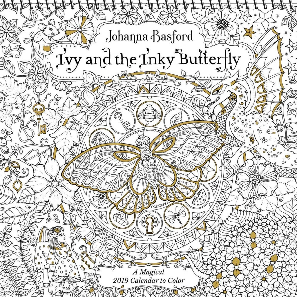 2019 Coloring Wall Calendar With Ivy And The Inky Butterfly A Magical