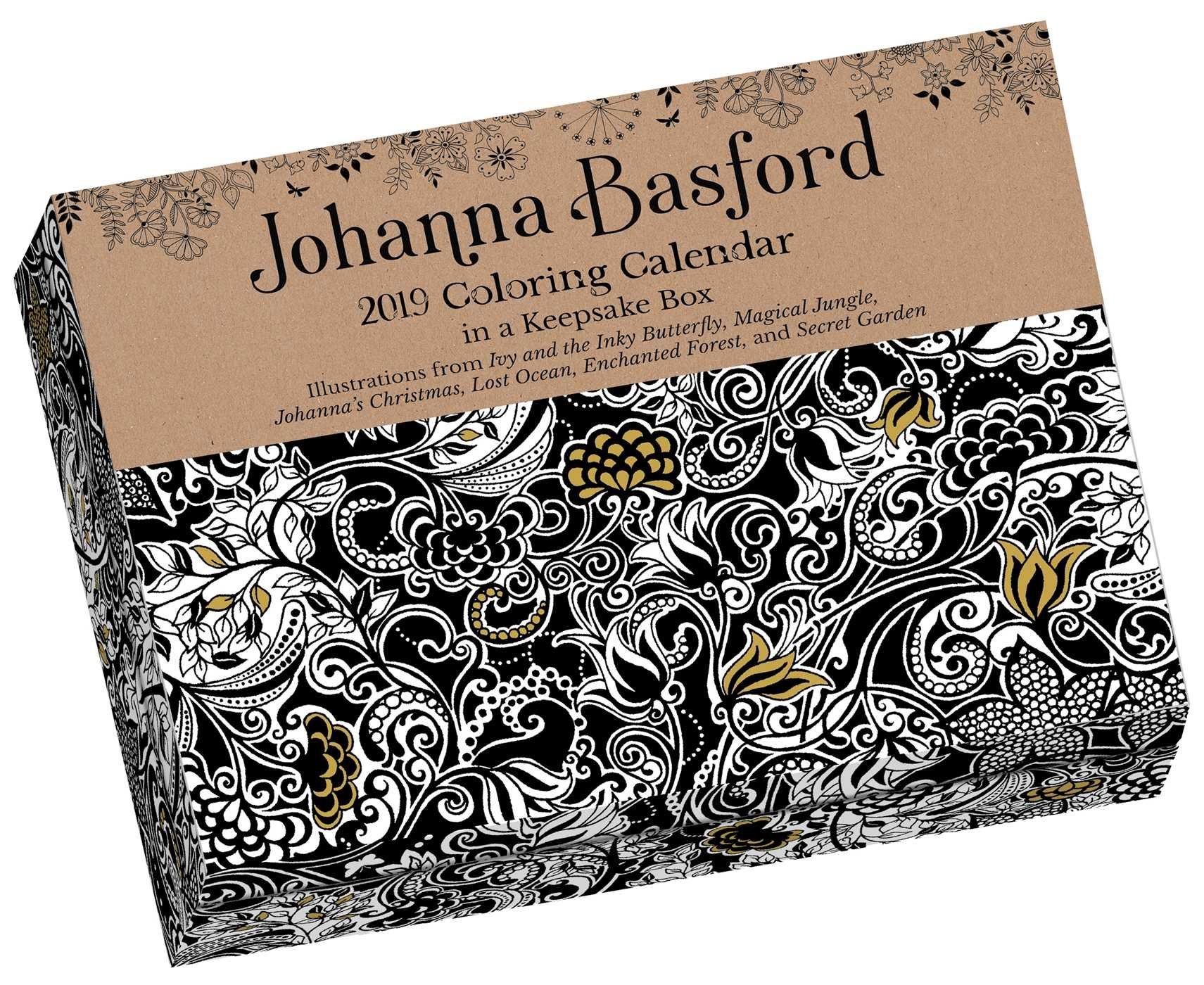 2019 Coloring Wall Calendar With Johanna Basford Amazon Co Uk