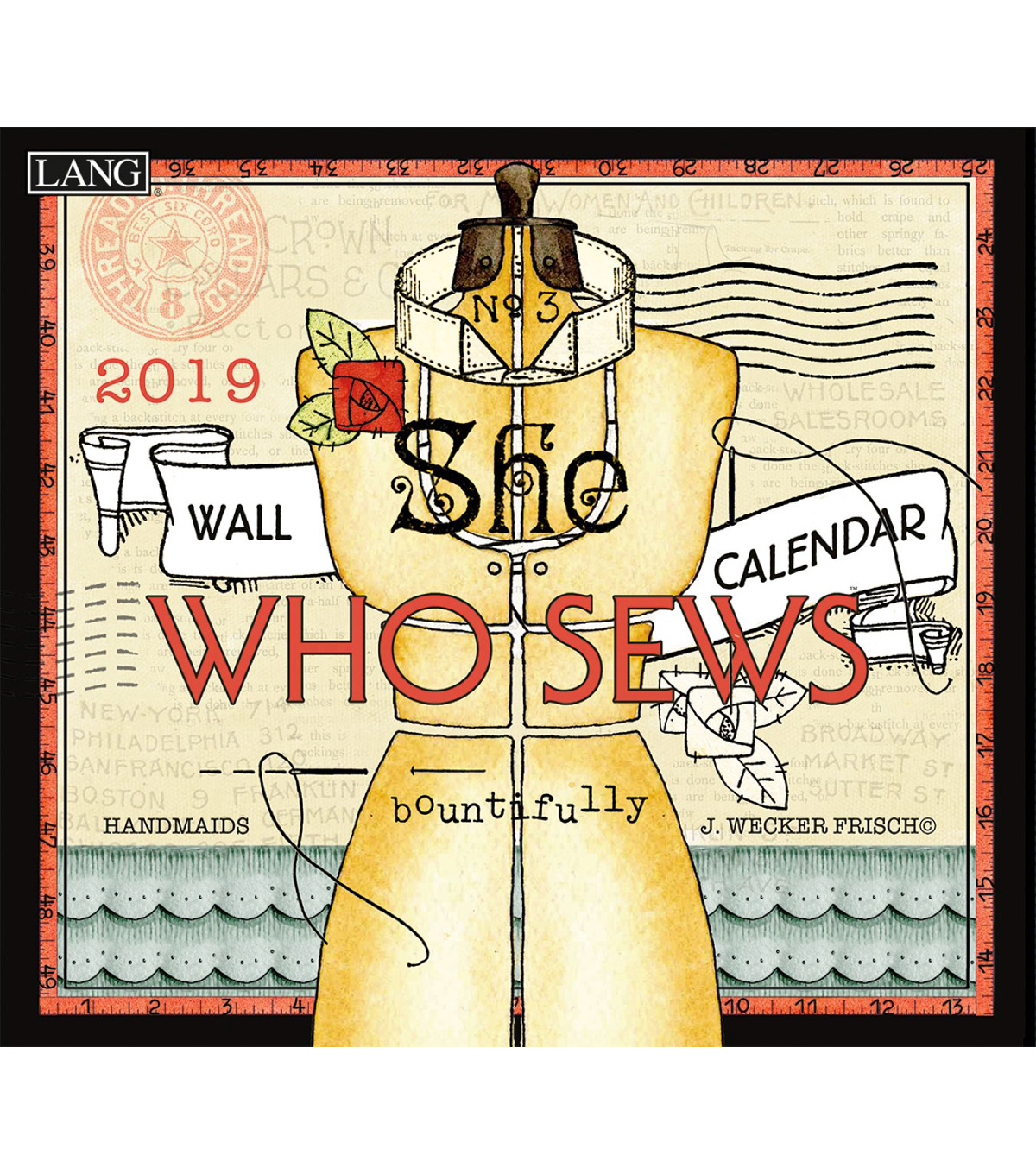 2019 Coloring Wall Calendar With She Who Sews