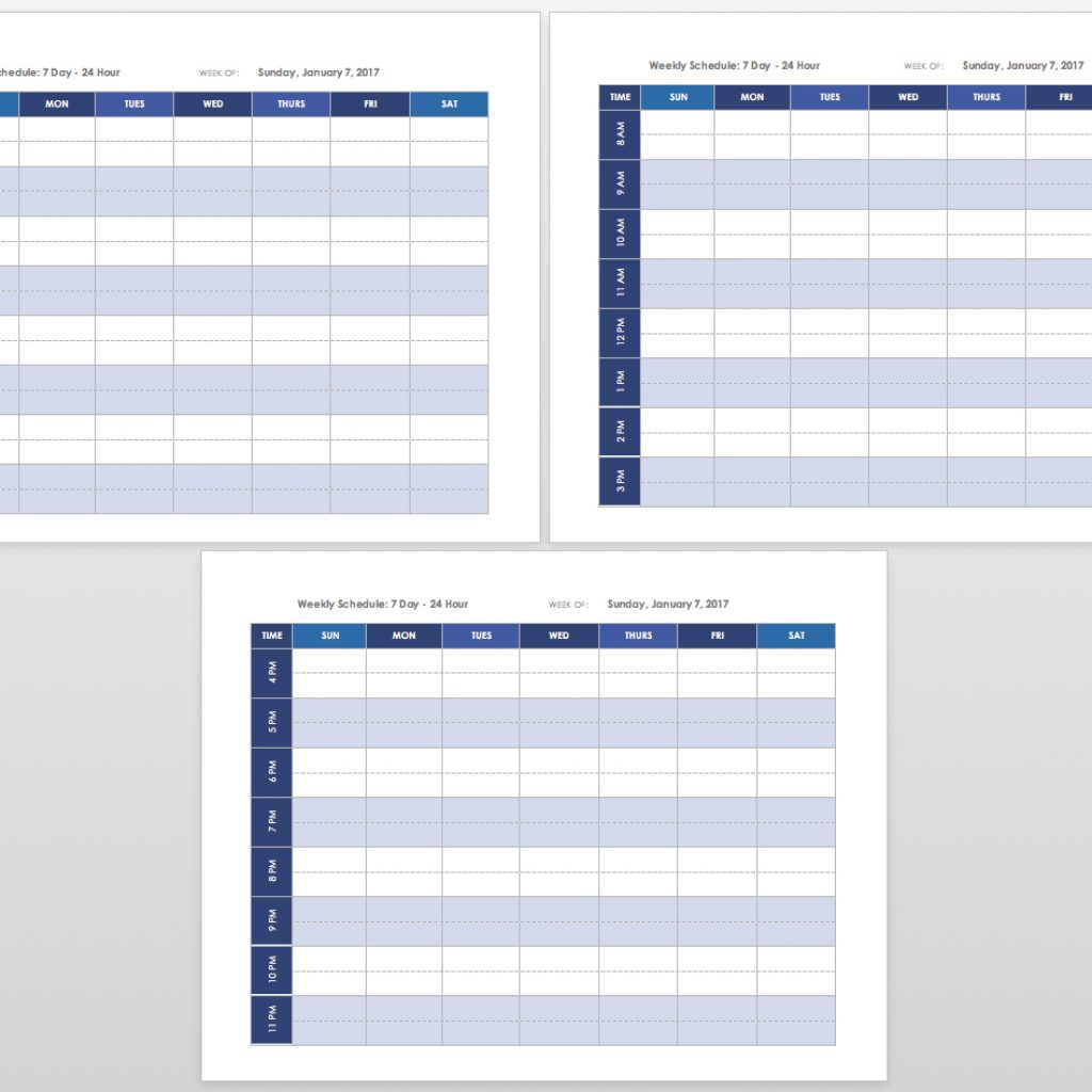 2019 Full Year Calendar Template Smartsheet With Free Blank Templates