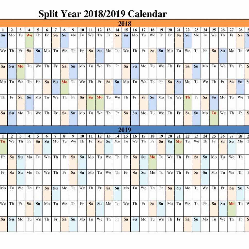 2019 Full Year Calendar Template Smartsheet With Unique 33 Sample 2018 Academic Printable