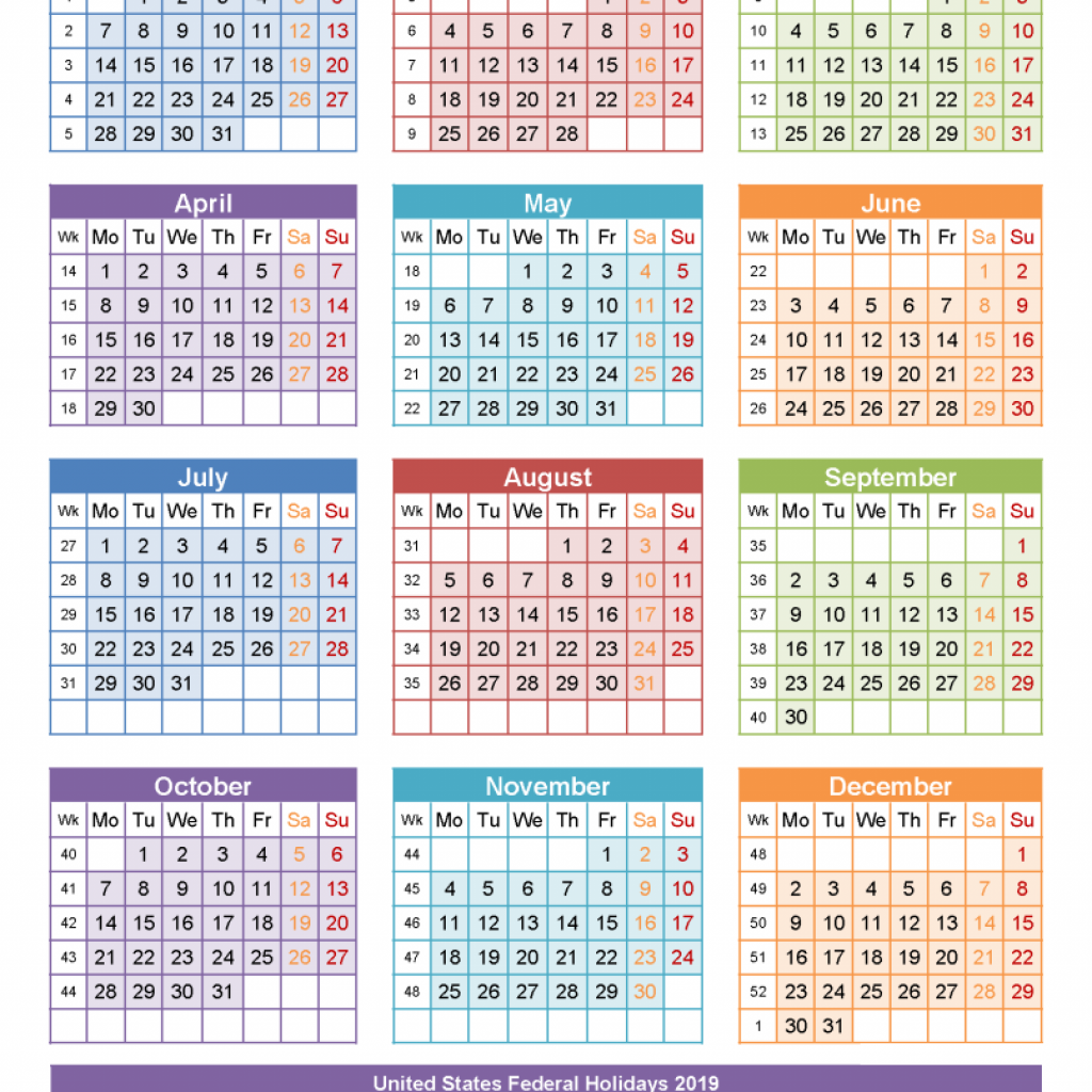 2019 Printable Year Calendar With Holidays Yearly Template France Free Public