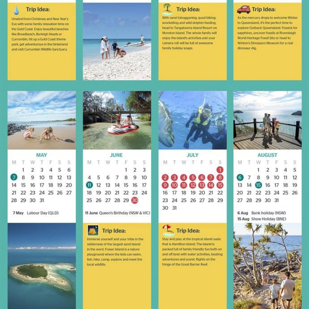 2019 Qld School Year Calendar With Queensland Holidays Public And Dates Ideas
