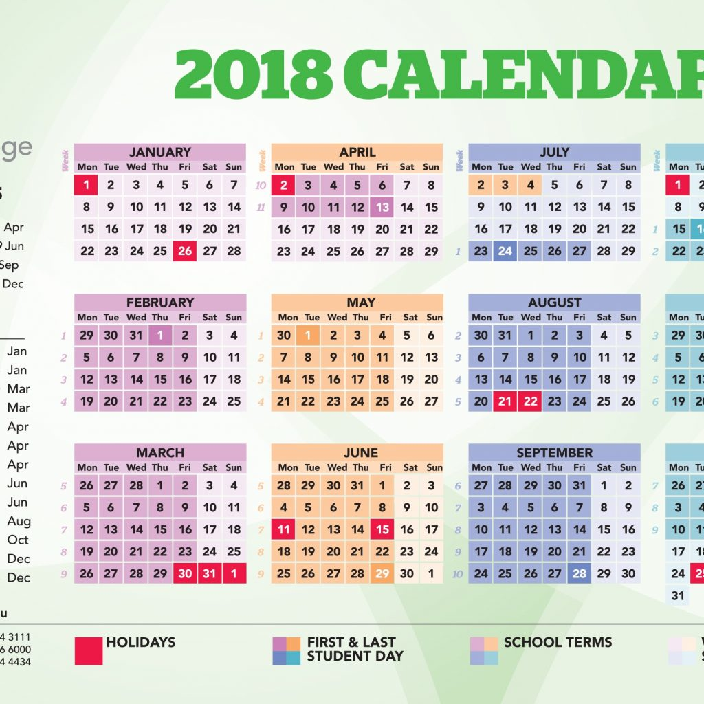 2019 School Year Calendar Nsw With Event Amity College