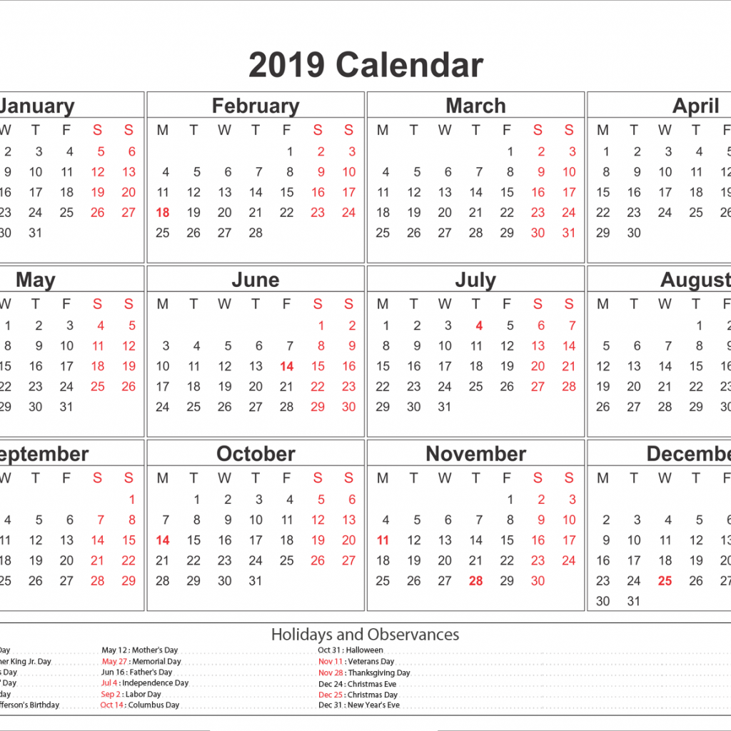 2019 School Year Calendar Nsw With Get Free Federal Printable Holiday NSW Template