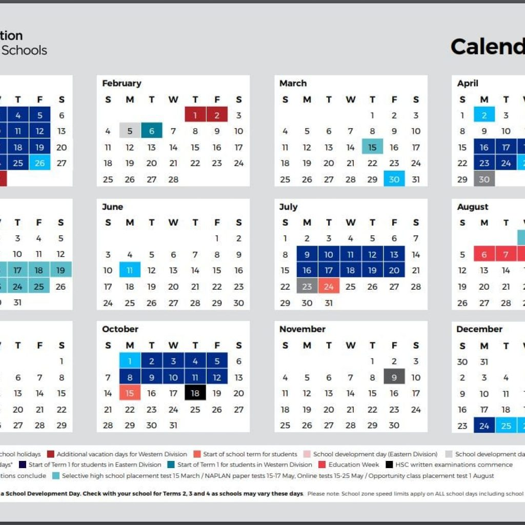 2019 School Year Calendar Nsw With Holidays Kidabout