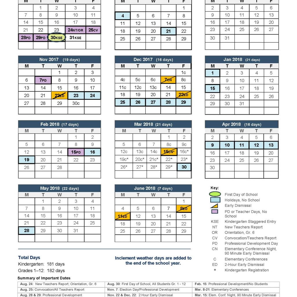 2019 School Year Calendar Nyc With 2017 18 Norwalk Public Schools