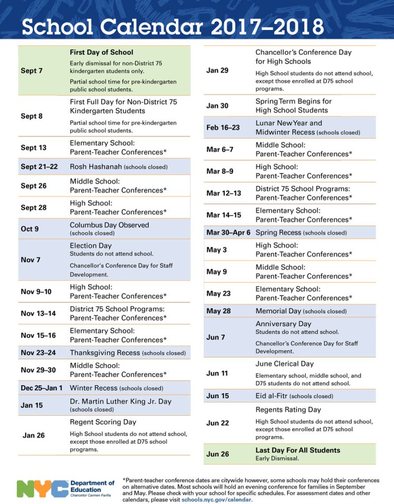 2019 School Year Calendar Nyc With Doe District 75 Summer 2018 Hype Vacation