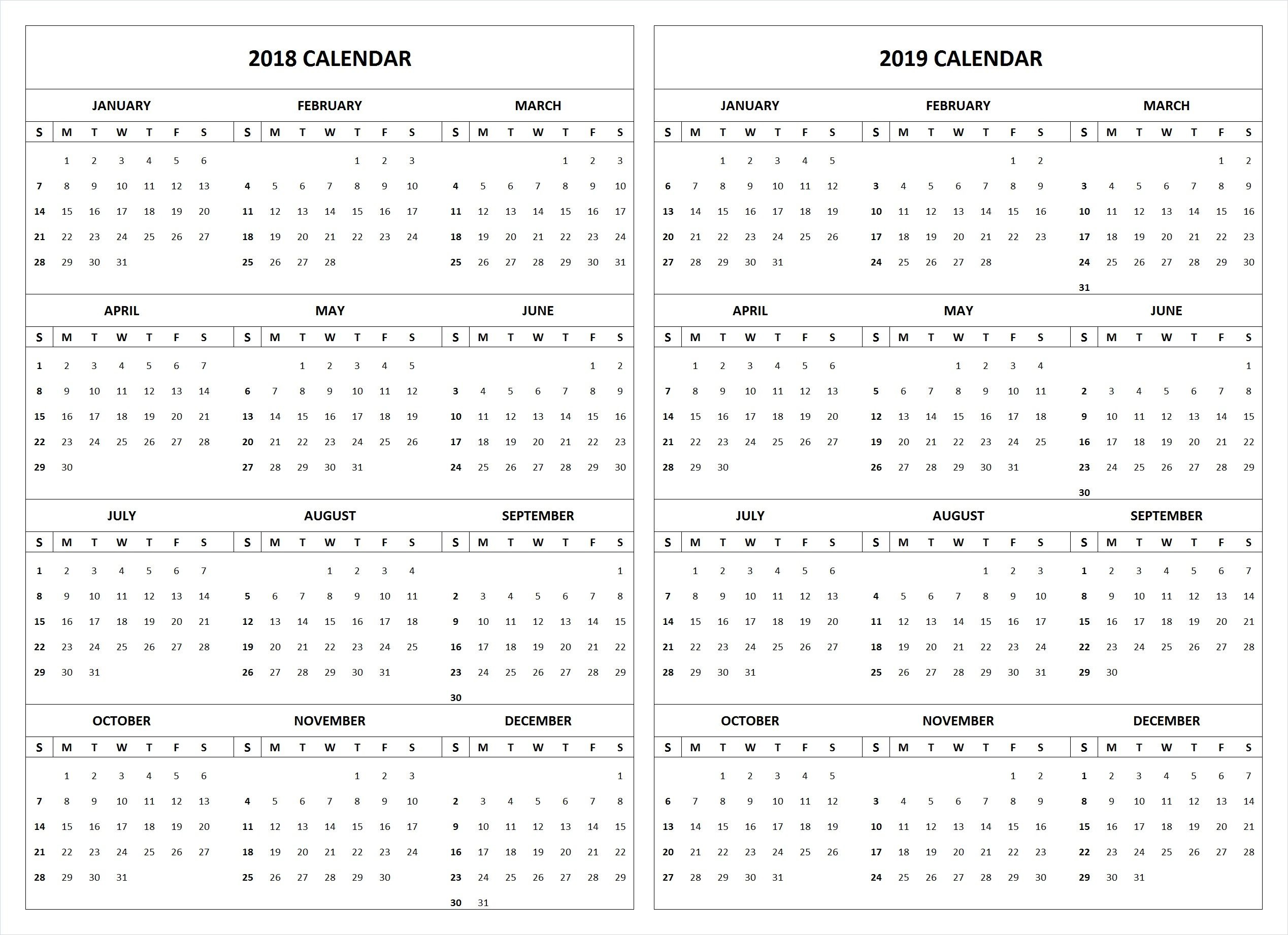 2019 School Year Calendar Template With 3 Free 2018 Printable April