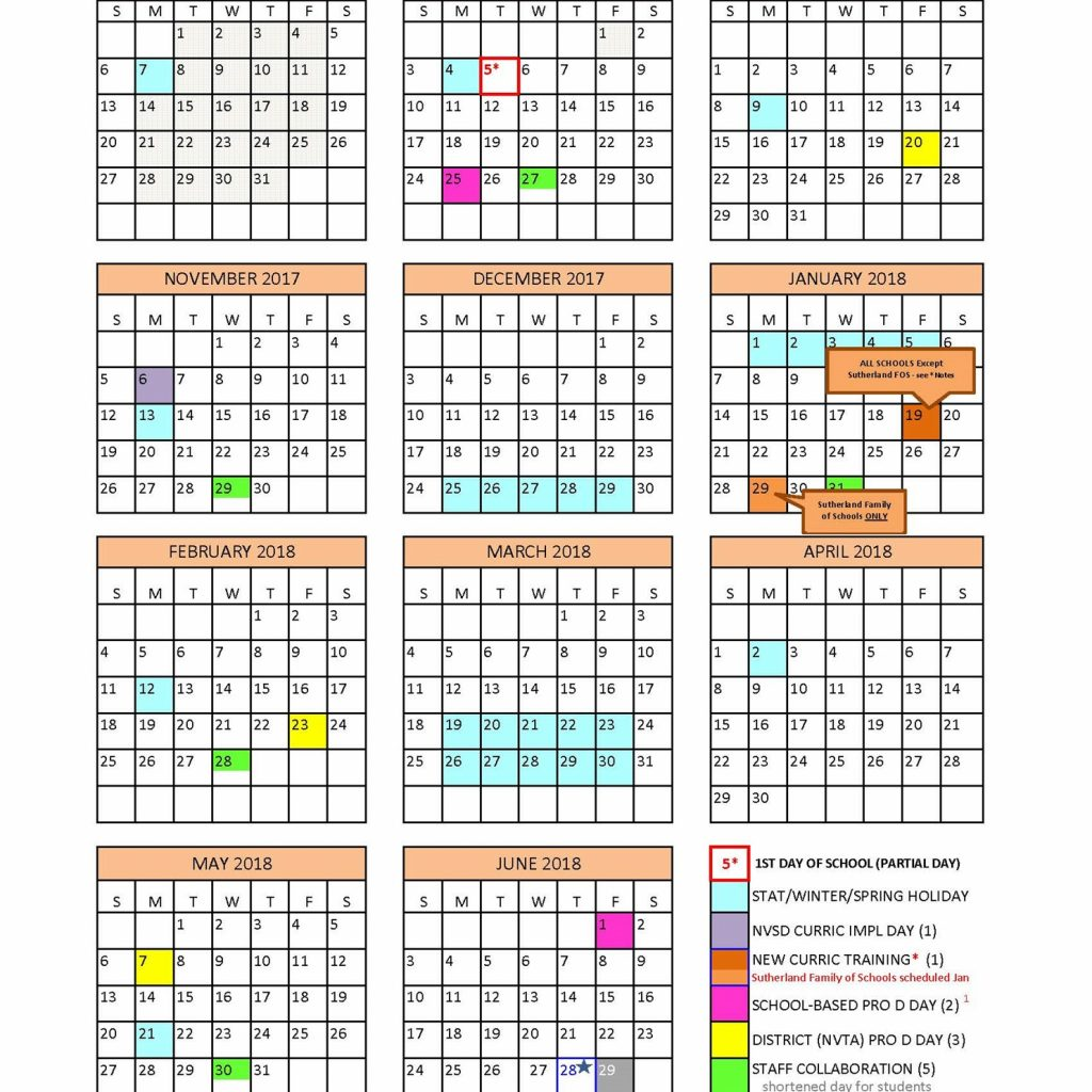 2019 School Year Calendar Victoria With District North Vancouver