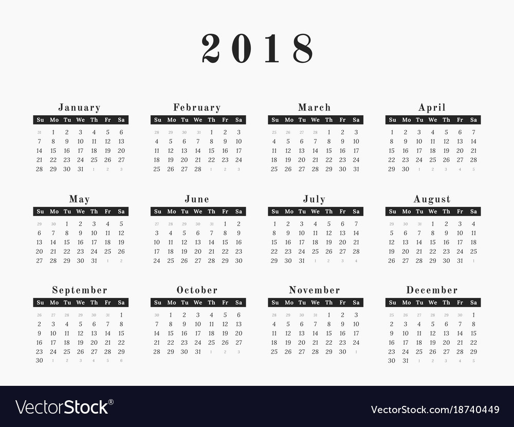 2019 Whole Year Calendar With Full Templates And Images Abohmza Com