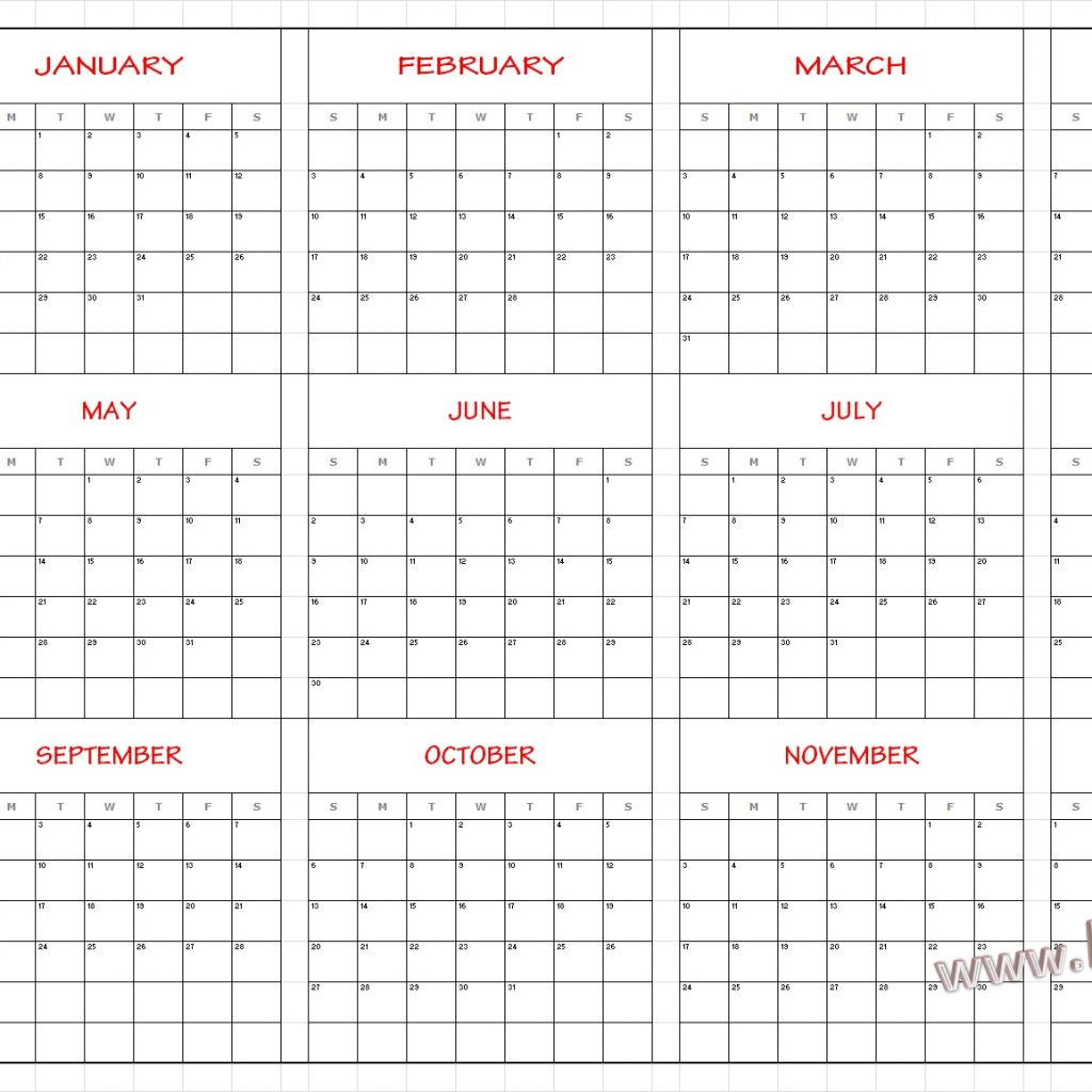 2019 Year Calendar By Month With Download Template Yearly UAE Dubai Holidays