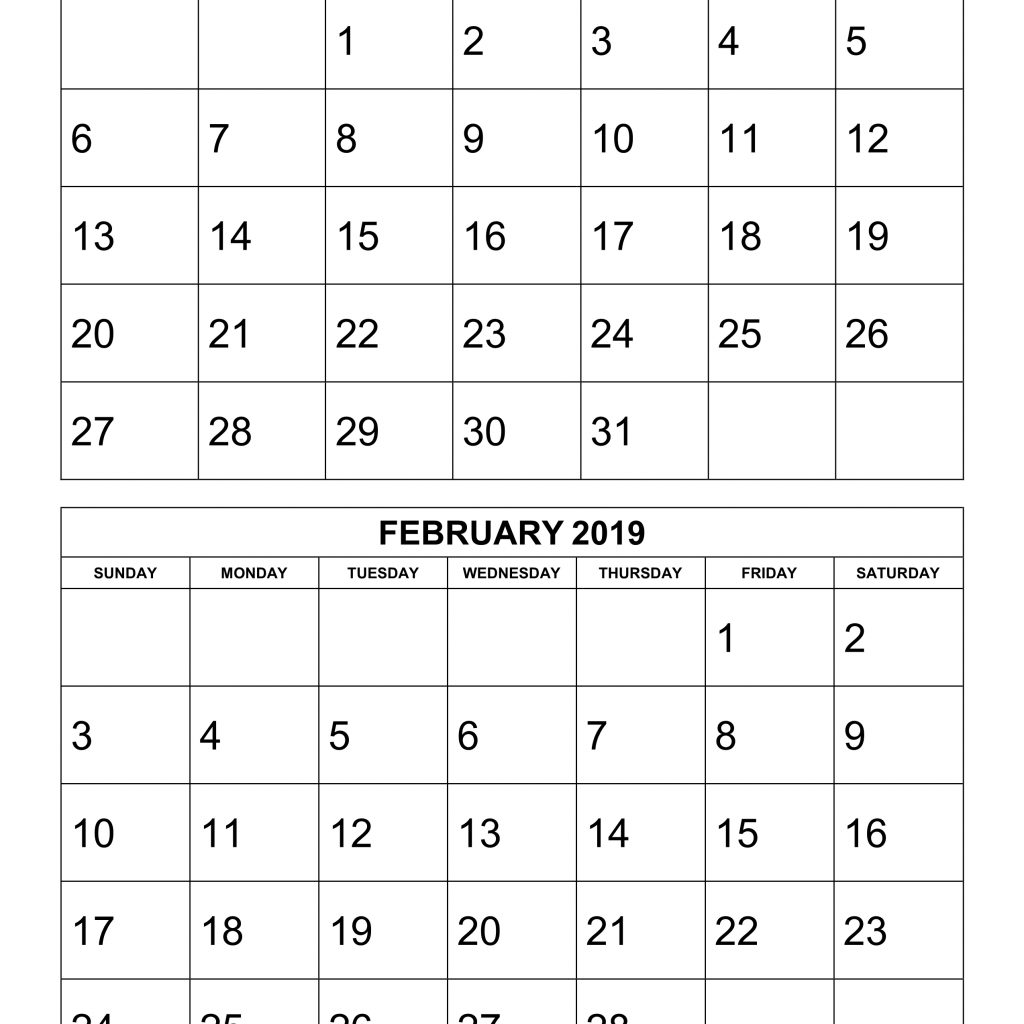 2019-year-calendar-printable-free-with-download-2-months-per-page-6-pages