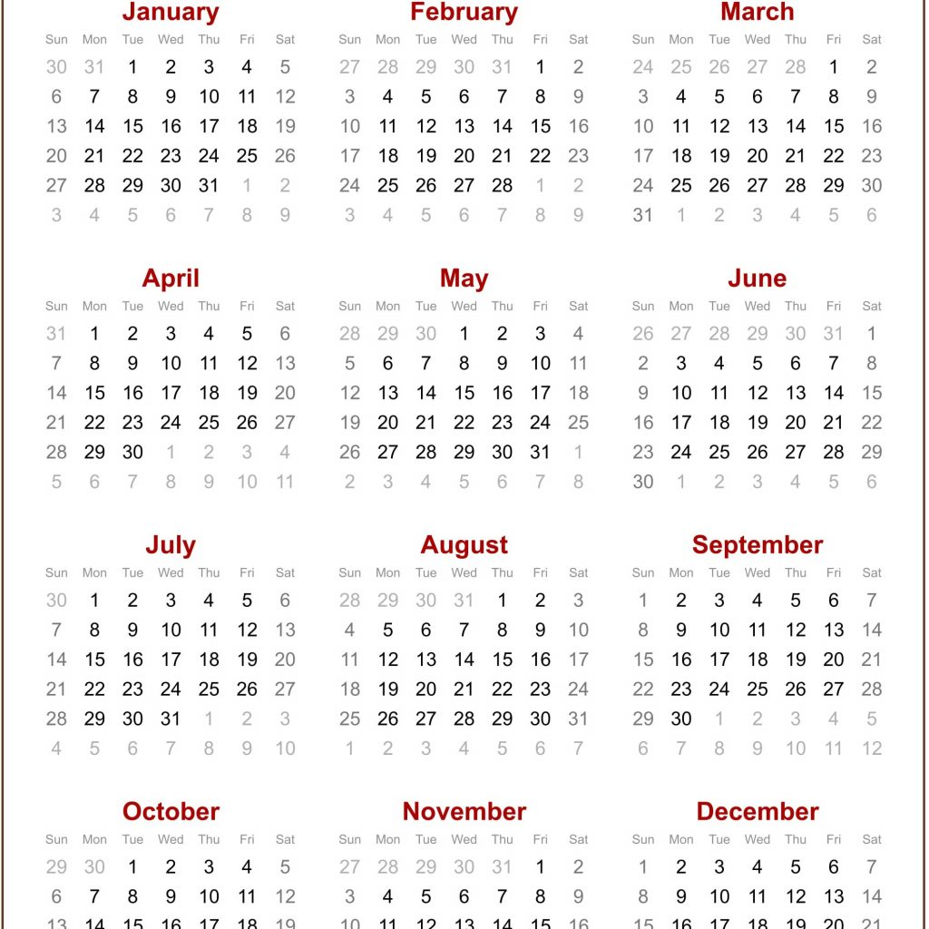 2019 Year Calendar To Print With Free Yearly Editable Blank Template July 2018
