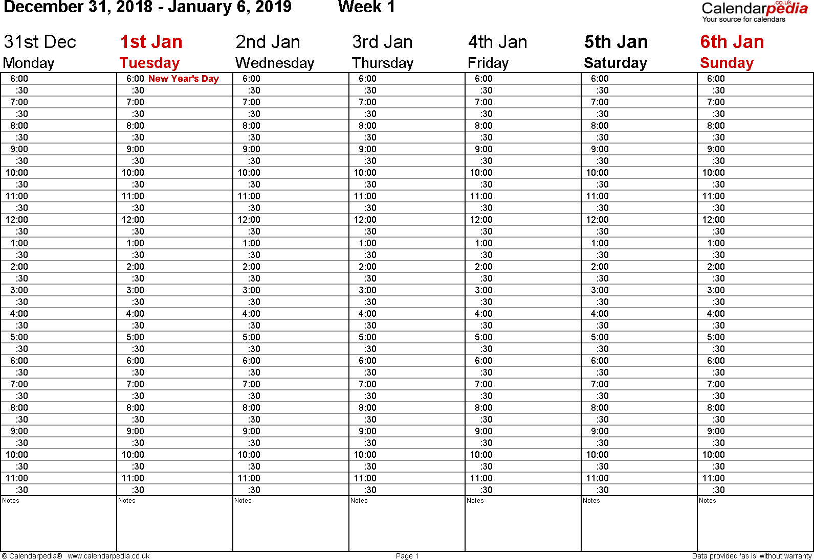 2019 Year Calendar With Weeks Weekly UK Free Printable Templates For Word