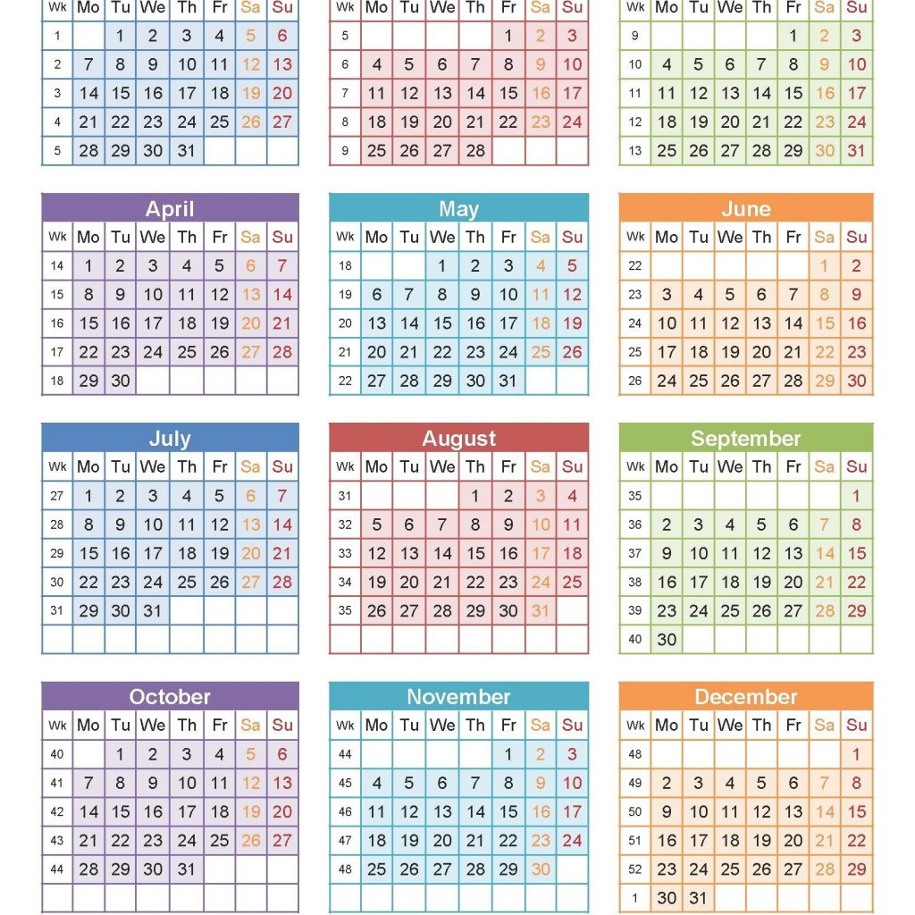 2019 Year Calendar Word With Free Editable USA PDF Excel Templates
