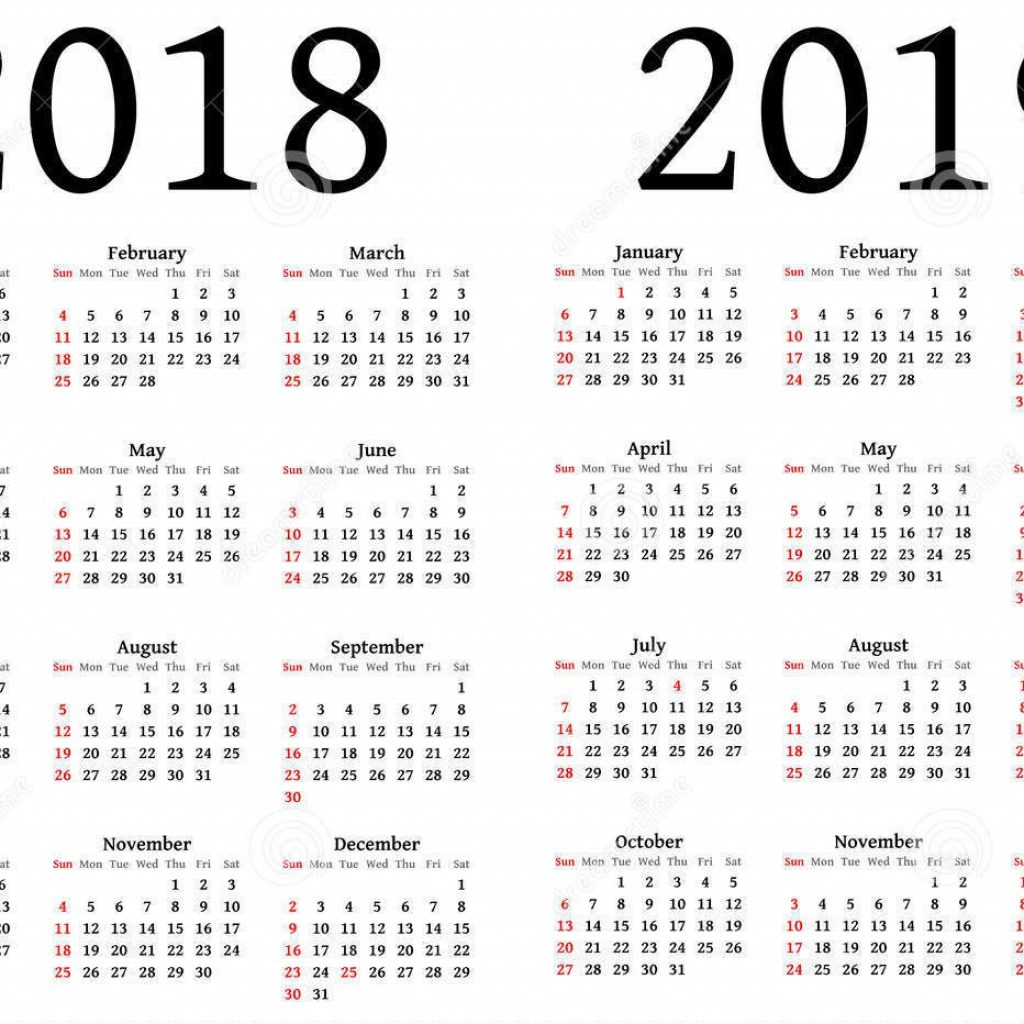 2019 Year Long Calendar With Free Download 2018 And Printable June