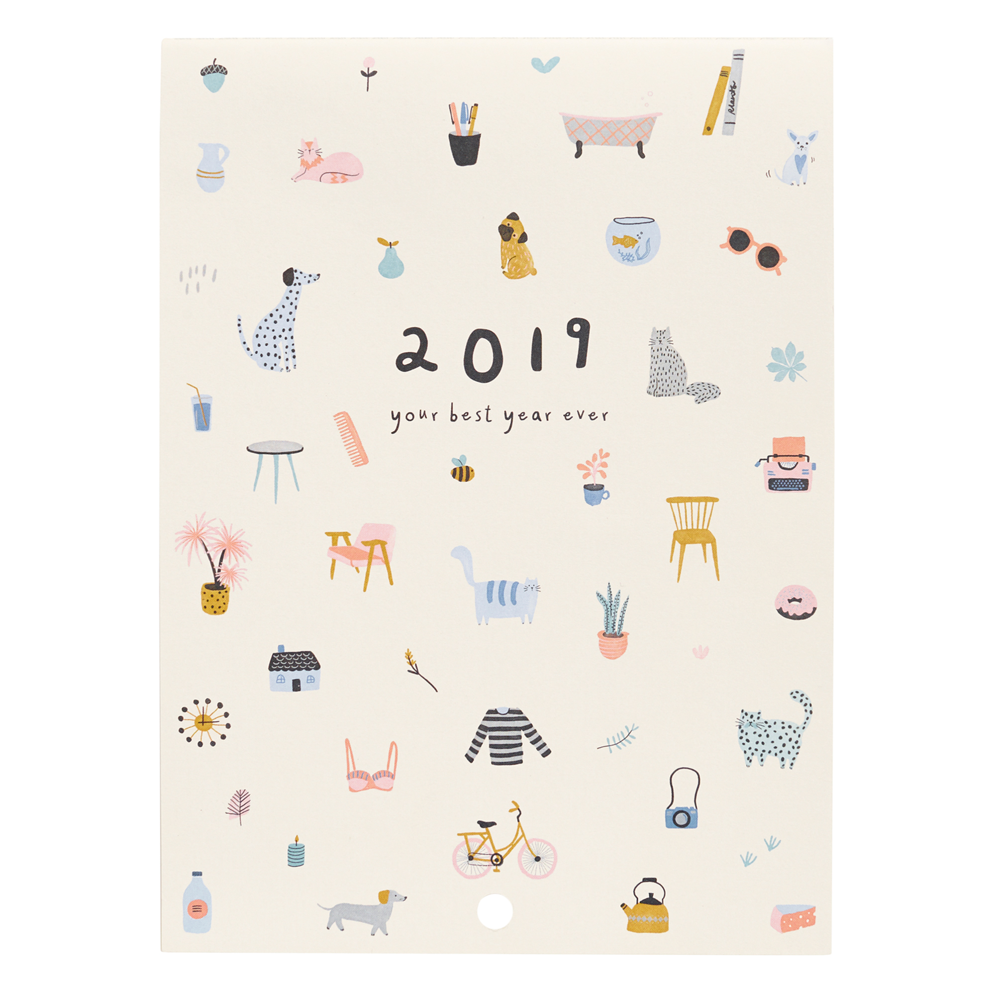 2019 Year Wall Calendar With Sweet Calendars Kikki K