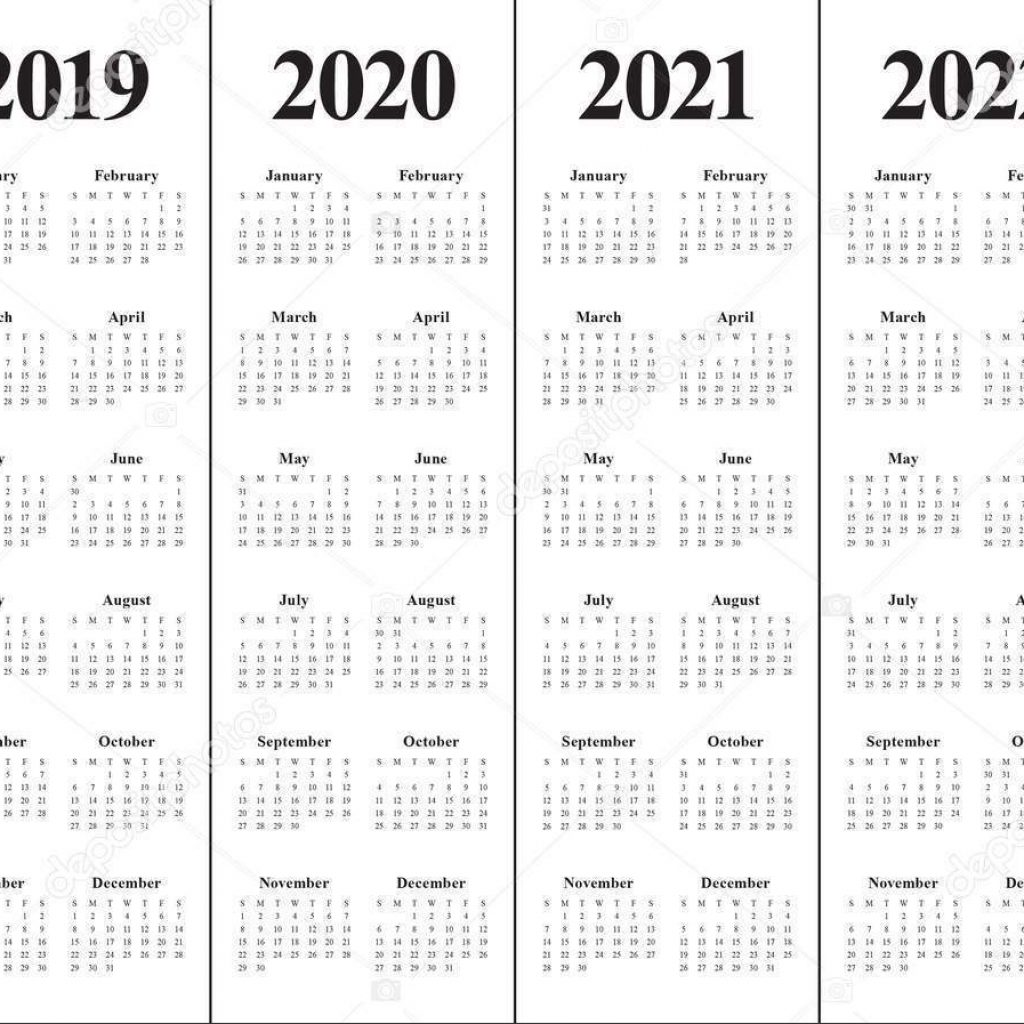 3 Year Calendar 2019 To 2021 With Free 5 Blank PDF Printable Template March