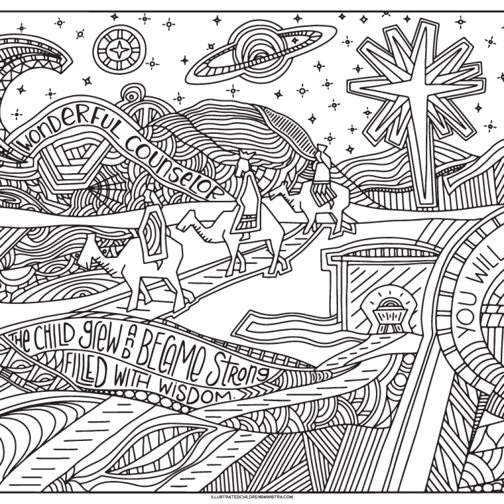 8 X 11 Christmas Coloring Pages With 2016 Advent 5×11 Illustrated Children S Ministry