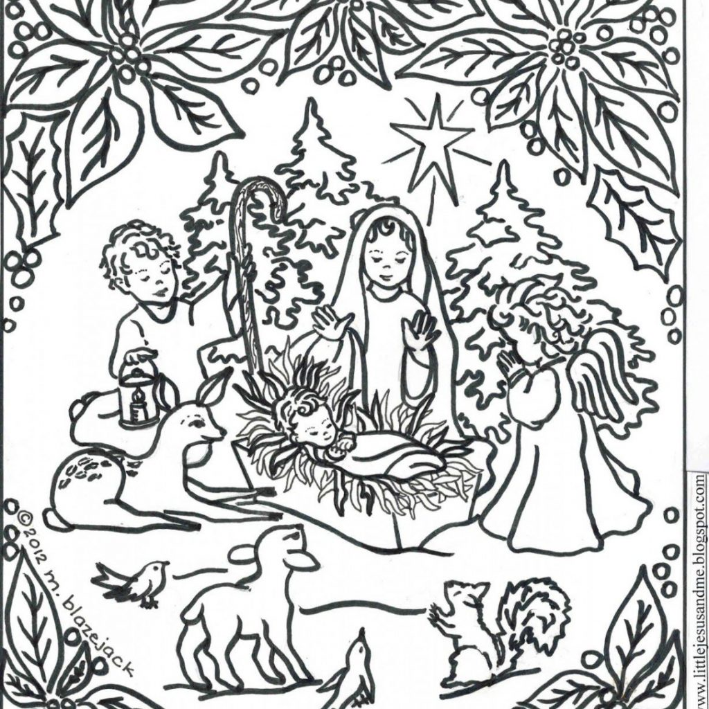 8 X 11 Christmas Coloring Pages With 5 Amazing Free Jesus And Nativity