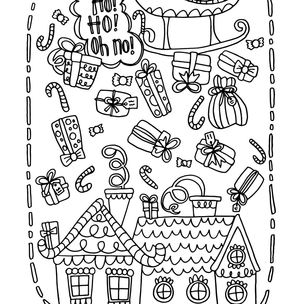 8 X 11 Christmas Coloring Pages With Flour Page 5