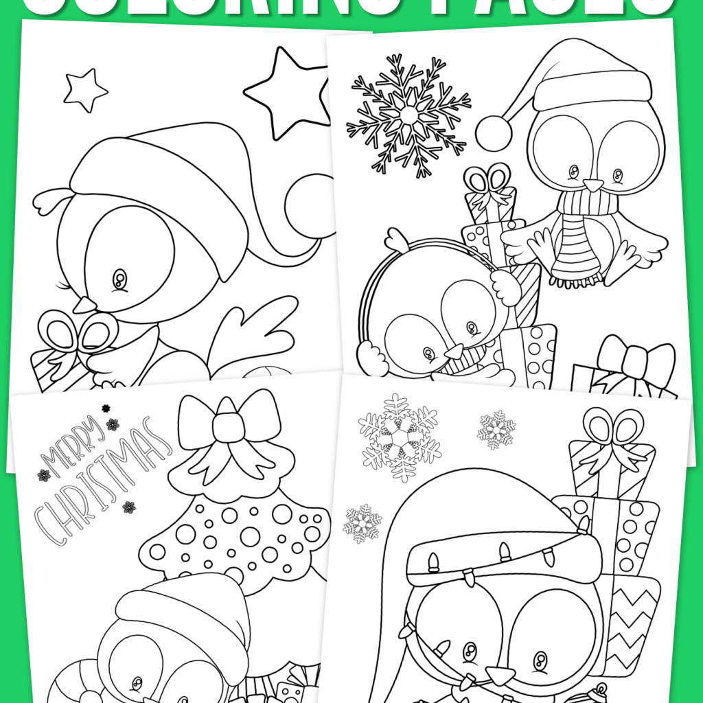 8 X 11 Christmas Coloring Pages With Lil Birdie For Kids Free Printable