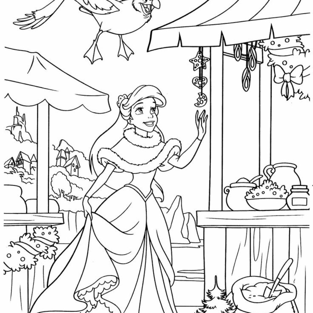 8 X 11 Christmas Coloring Pages With New Disney Princess Gallery Printable