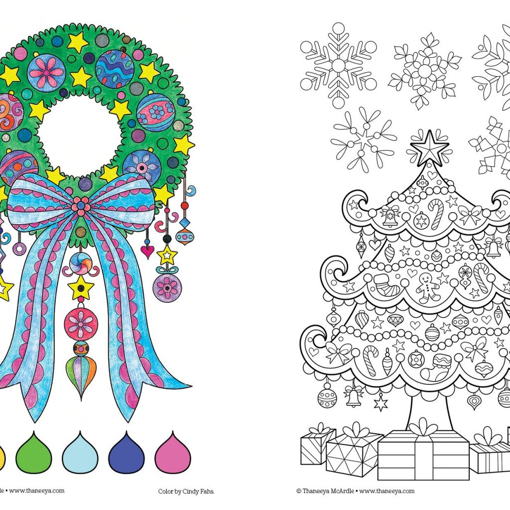 A Christmas Coloring Book With Amazon Com Color Perfectly Portable Pages