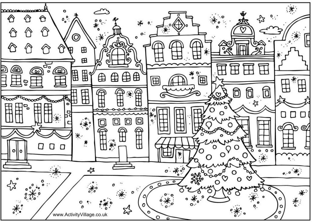 A Christmas Coloring Book With Printable CHRISTMAS COLORING BOOK PAGES Wishes Gifts