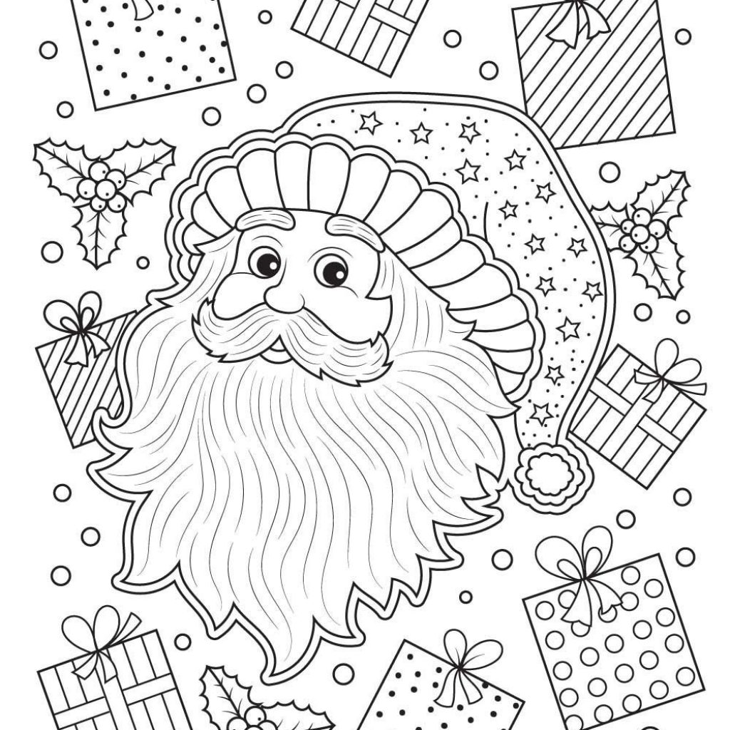 Australian Santa Coloring Page With 42 Inspiring Photo Of Claus Pages