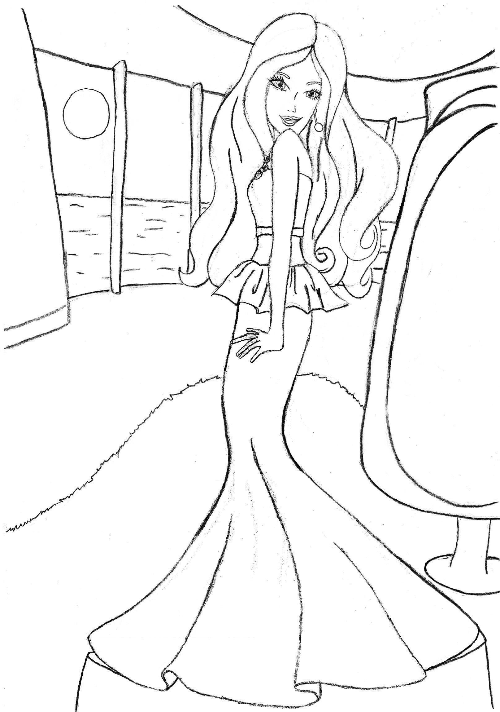 Barbie Christmas Coloring Pages To Print With 81 Cartoons Printable