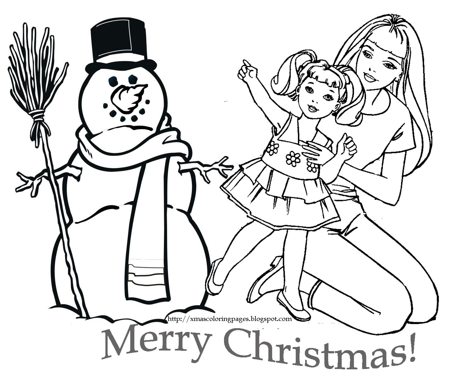 Barbie Christmas Coloring Pages To Print With LOVE THIS CHRISTMAS COLORING PAGE OF