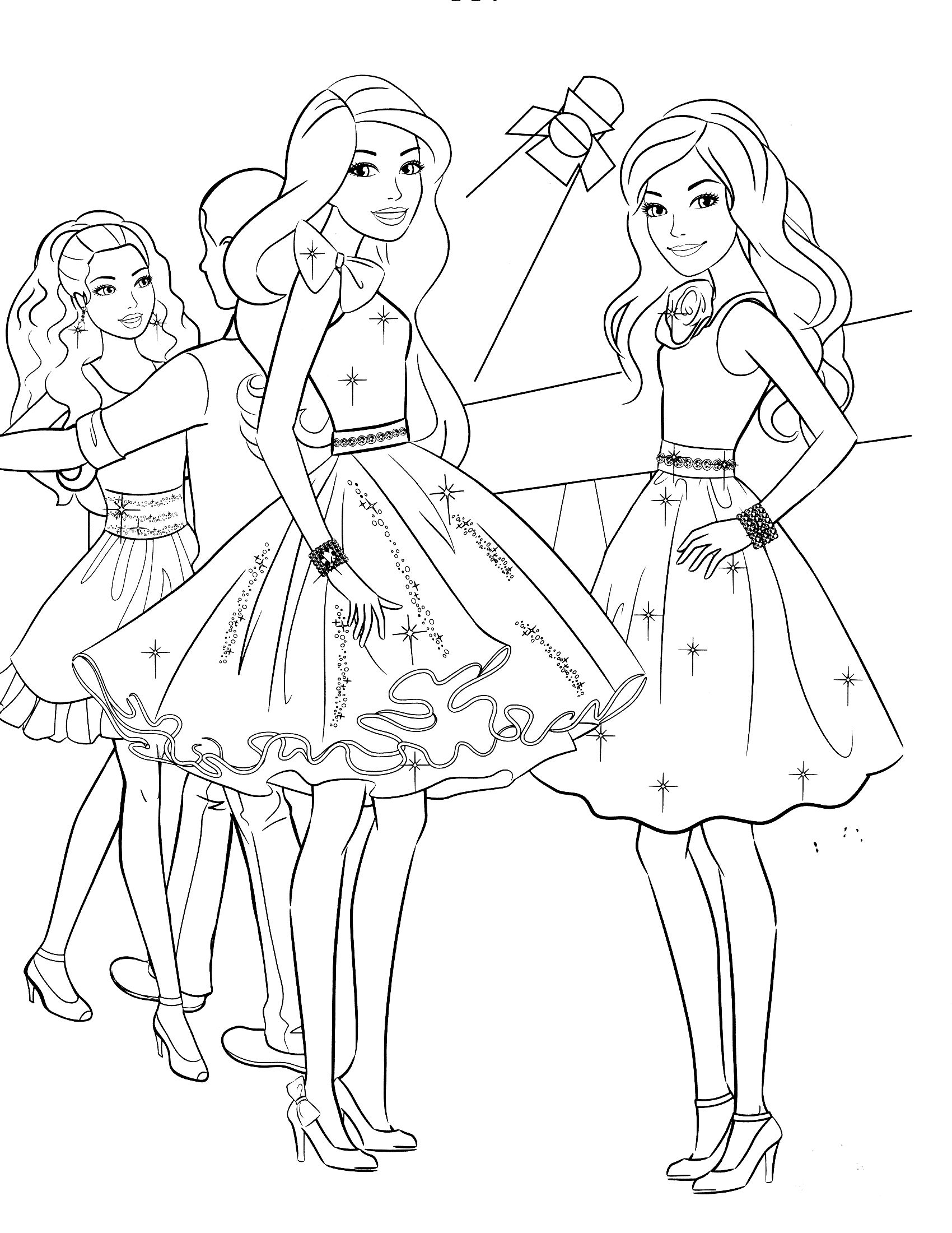 Barbie Christmas Coloring Pages To Print With Sheets Photos Collections