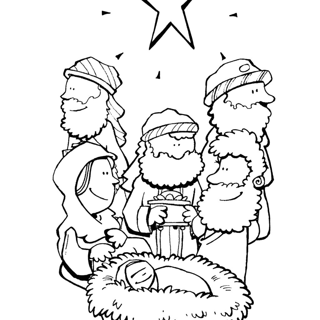 Bible Christmas Coloring Pages Printable With Story Archives New