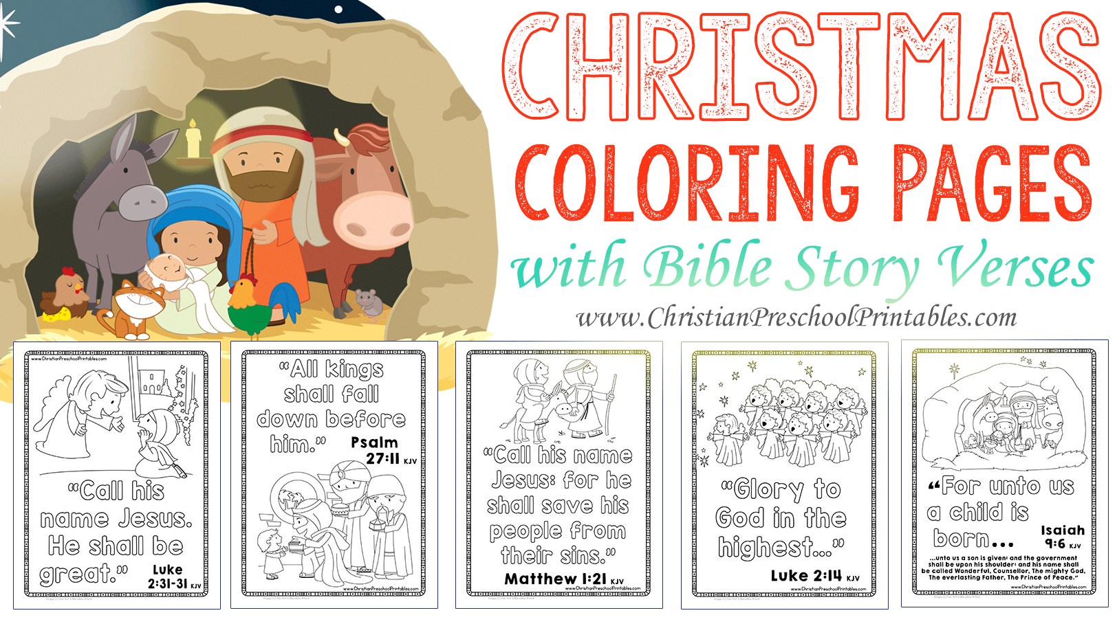 Bible Christmas Coloring Pages Printable With The Crafty Classroom