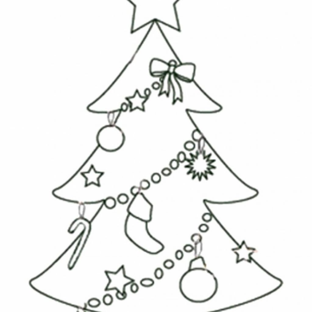 Big Christmas Tree Coloring Pages Printable With Free Templates