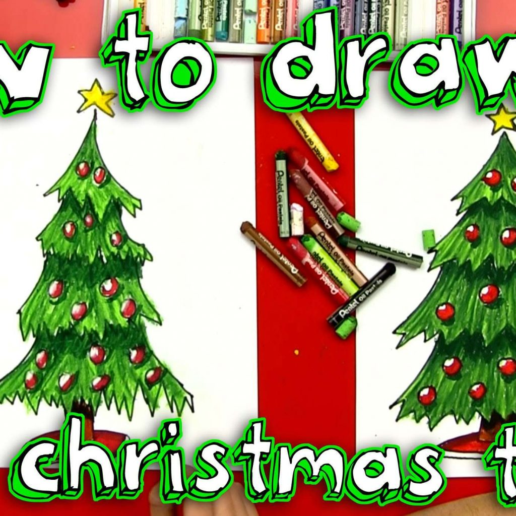 Big Christmas Tree Coloring Pages Printable With Large Decoration Cool