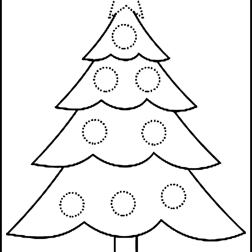 Big Christmas Tree Coloring Pages Printable With Large Sheet Refrence