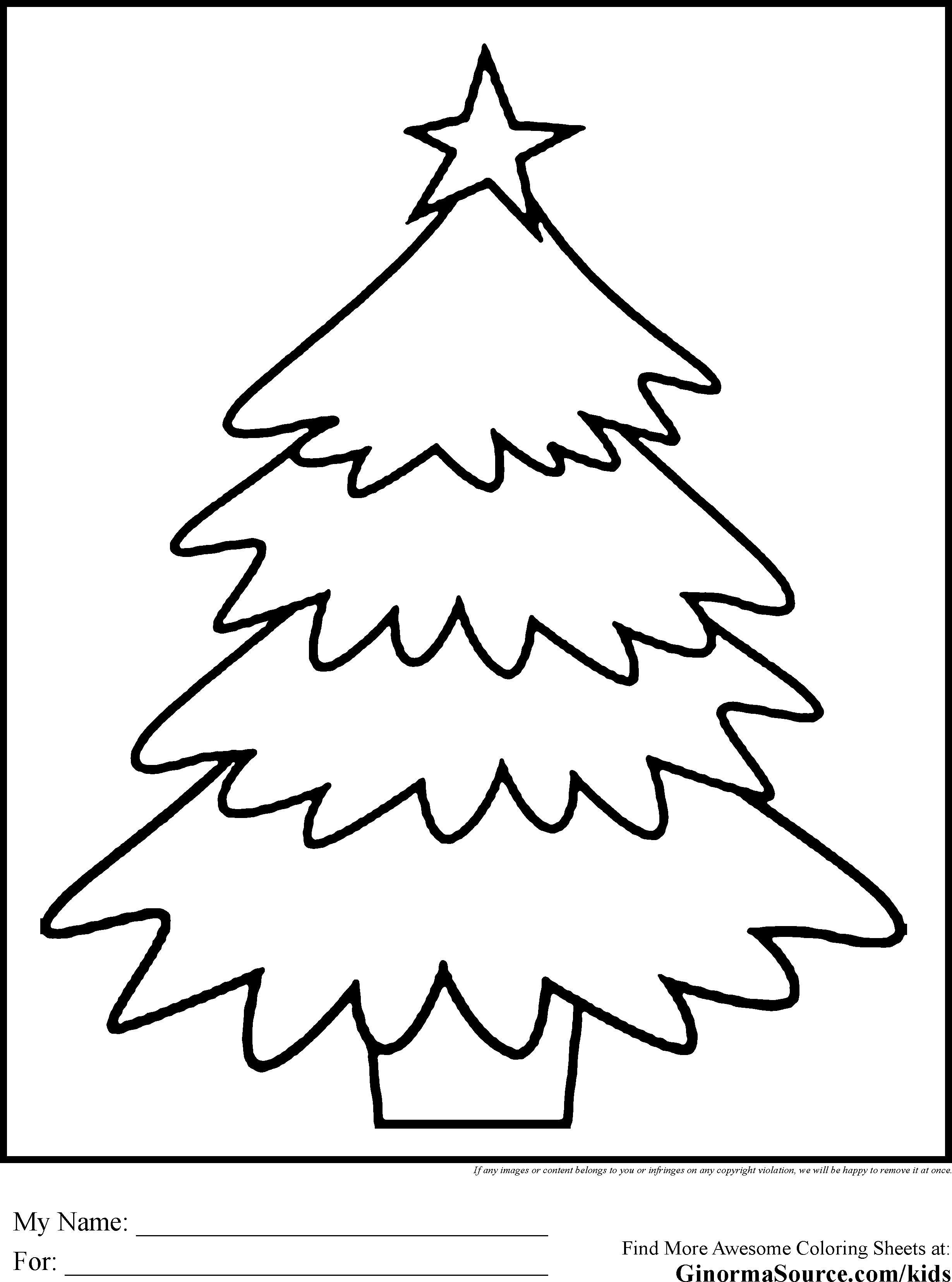 Big Christmas Tree Coloring Pages Printable With Worksheet Save