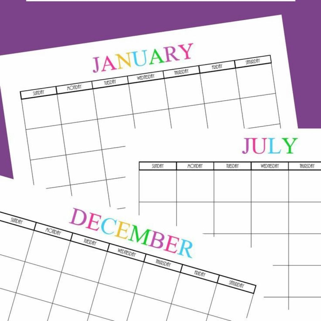 Calendar 2019 Entire Year With Free Printable Blank Monthly Calendars 2018 2020 2021